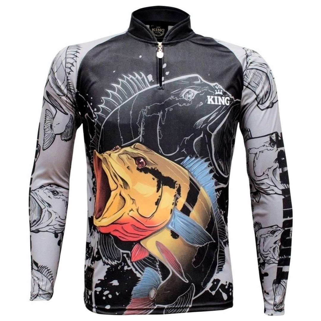 Camiseta Pesca com Proteção Solar UV King Tucunaré KFF608