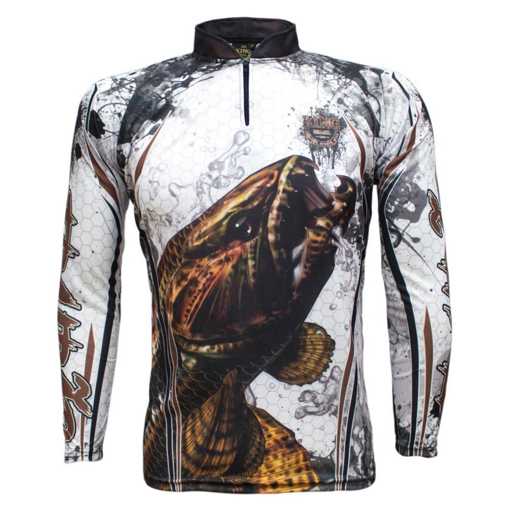 Camiseta Pesca Proteção Solar UV King Trairão KFF300