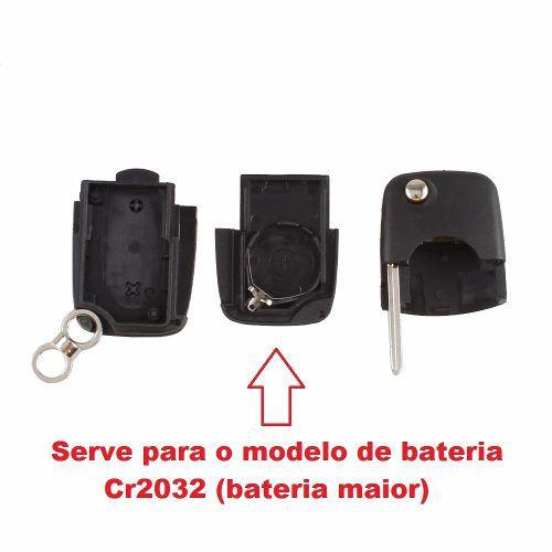 Chave Canivete Audi A3 A4 2 Botões Emblema e Lamina CR-2032