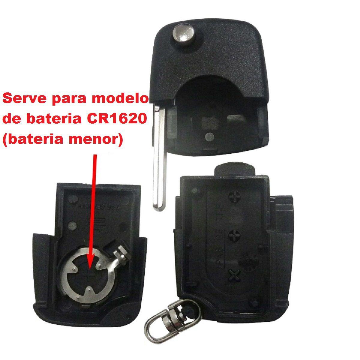 Chave Canivete Audi A3 A4 3 Botões Emblema e Lamina CR-1620