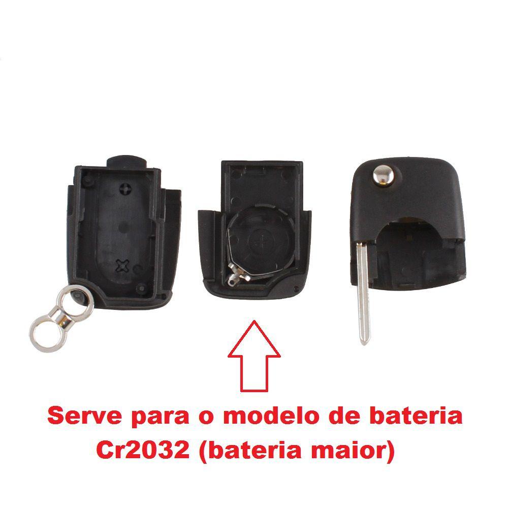 Chave Canivete Audi A3 A4 3 Botões Emblema e Lamina CR-2032
