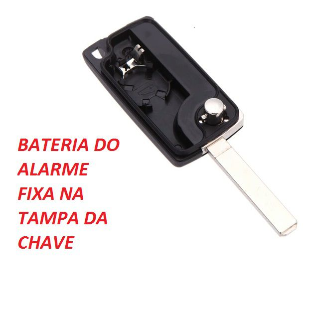 Chave Canivete Citroen 2B TL C3 C4 Pallas C5 Xsara Picasso com Emblema e Lamina