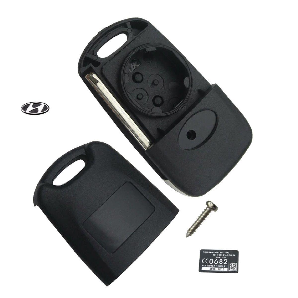 Chave Canivete Hyundai Elantra 3 Botões