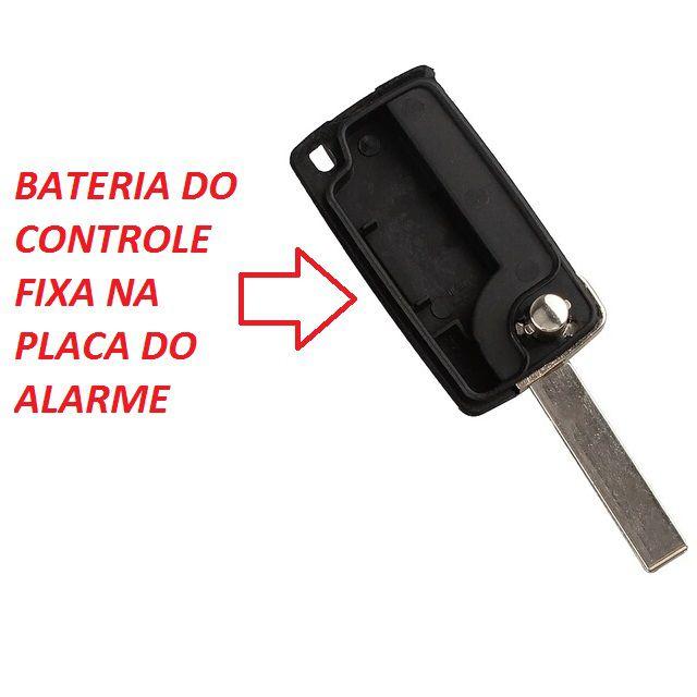 Chave Canivete Peugeot 2B PF 307 308 407 607 com Lamina e Emblema