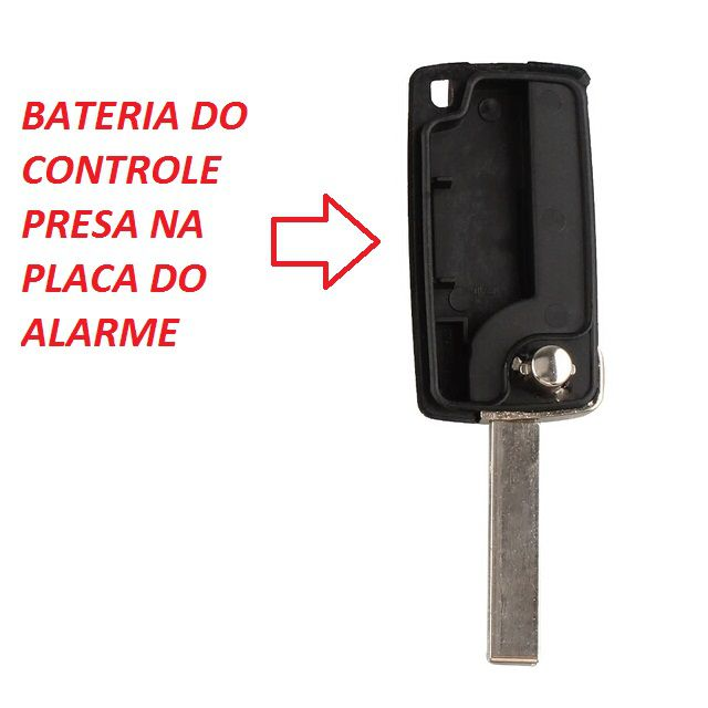 Chave Canivete Peugeot 3B PL 307 308 407 408 607 com Lamina e Emblema