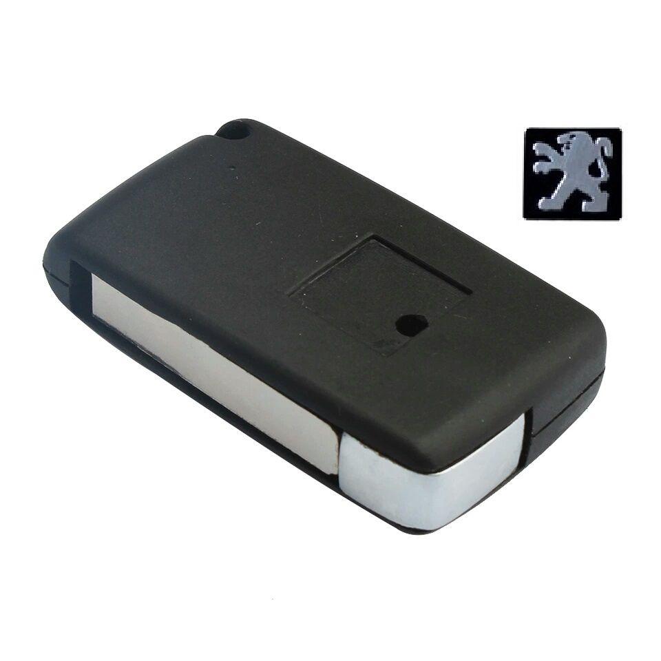 Chave Canivete Peugeot Telecomando p/ Canivete 2B Cromado Lamina LF