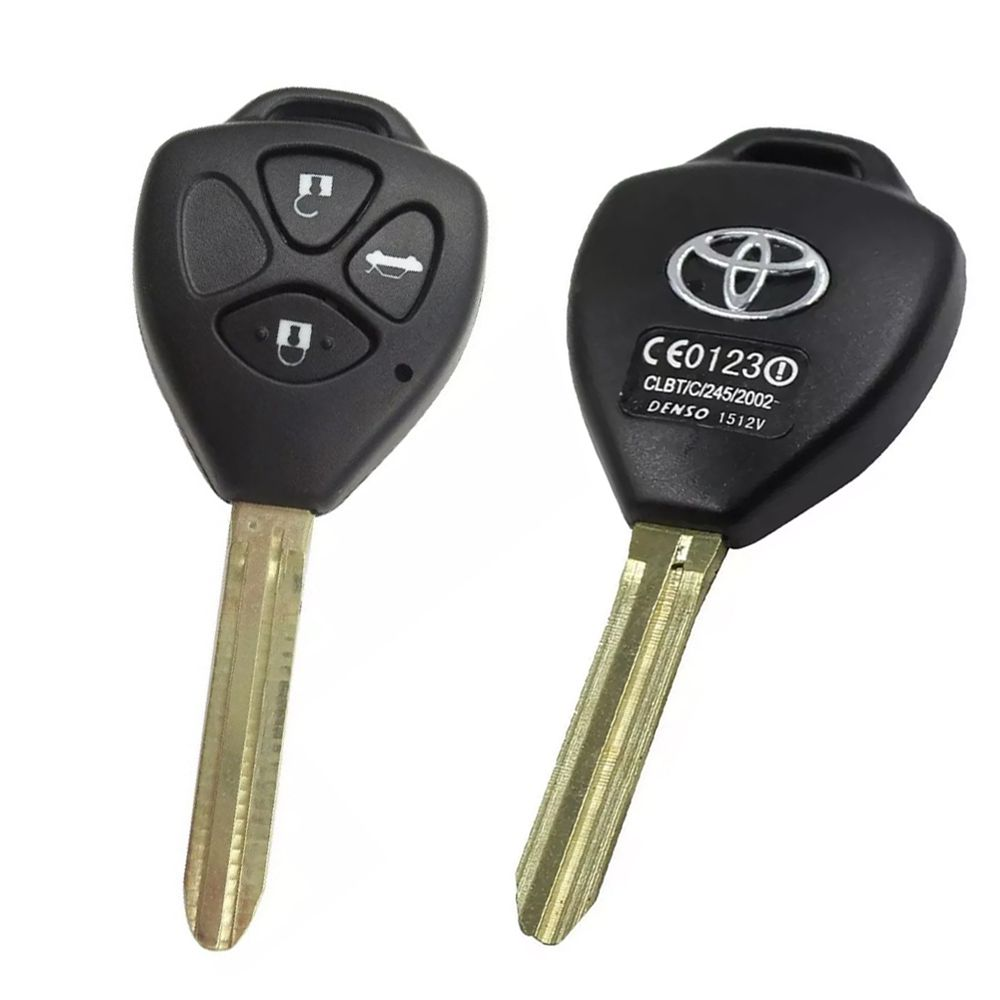 Chave Telecomando Toyota Corolla Hilux SW4 3 Botões Preto