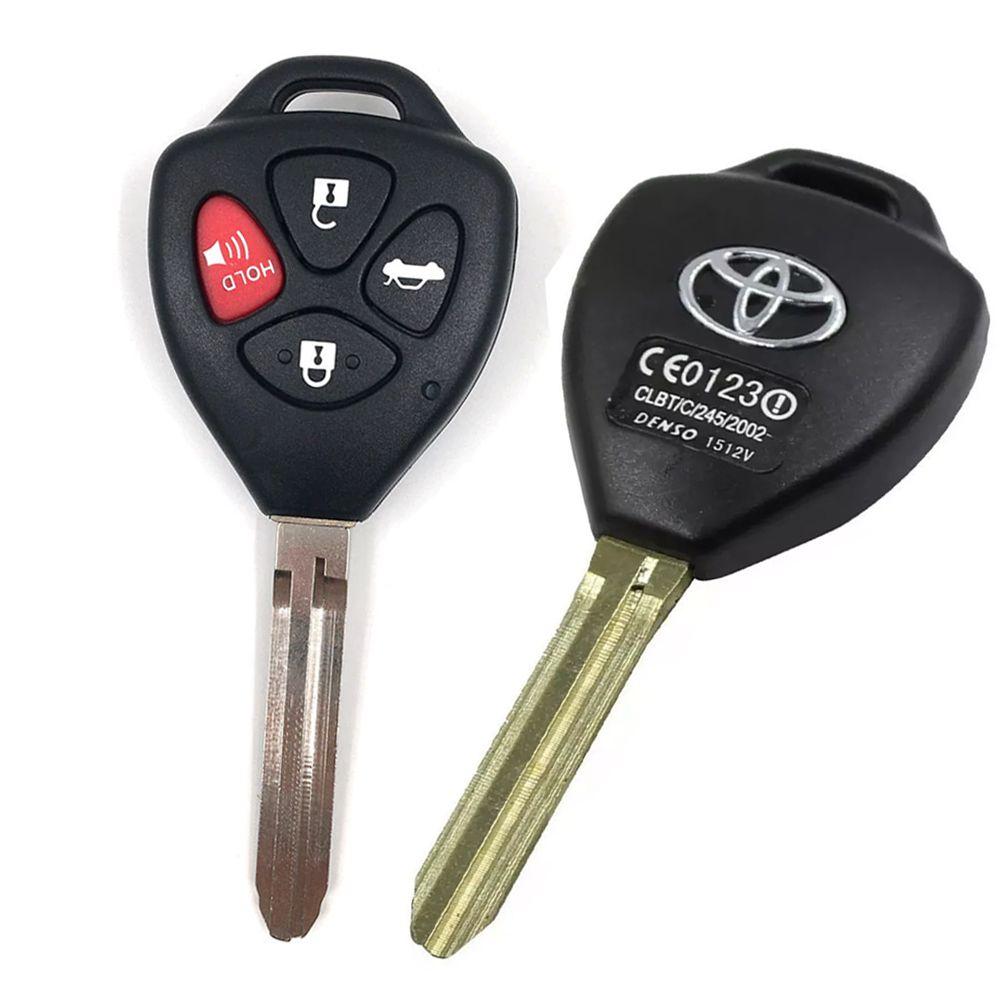 Chave Telecomando Toyota Corolla Hilux SW4 RAV4 4 Botões