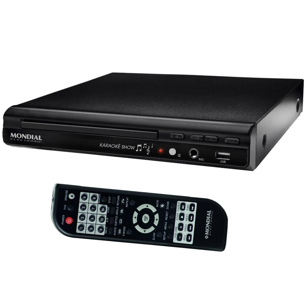 DVD Player Mondial D-20 com Entrada USB e Função Karaokê Bivolt