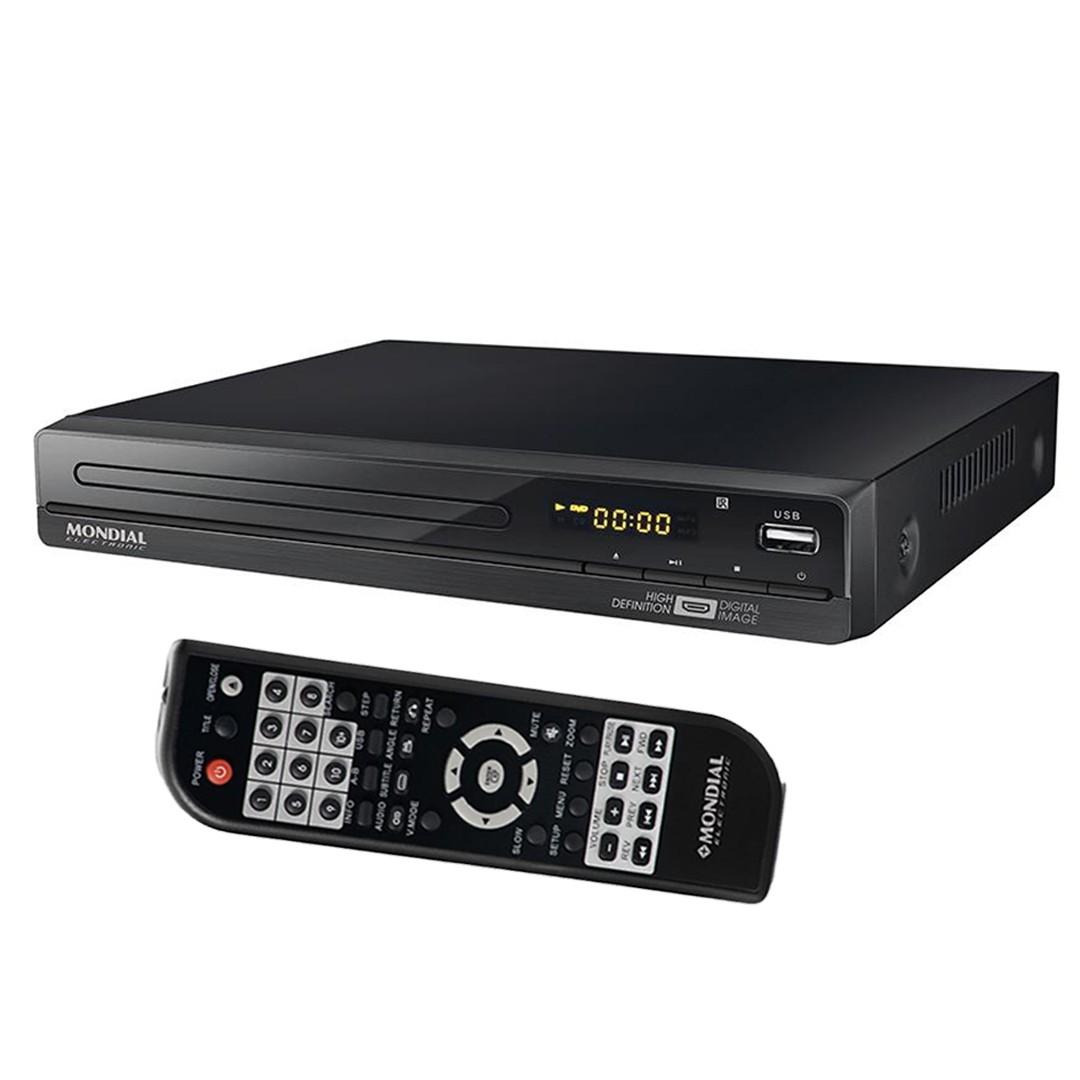 DVD Player Mondial D-22 USB Alta Definição Função Karaokê