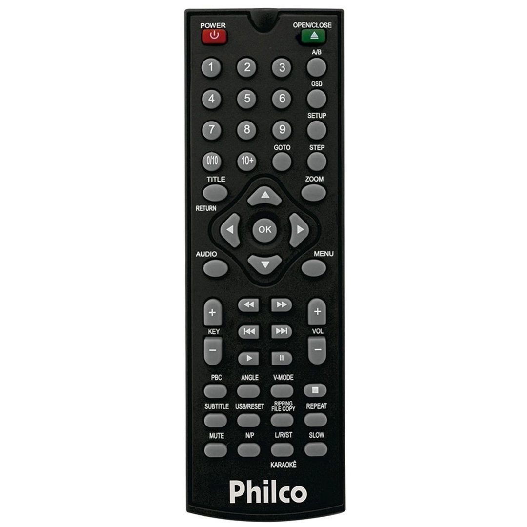 DVD Player Philco PH135 MP3, WMA, JPEG, Entrada USB 2.0 Controle Remoto Bivolt