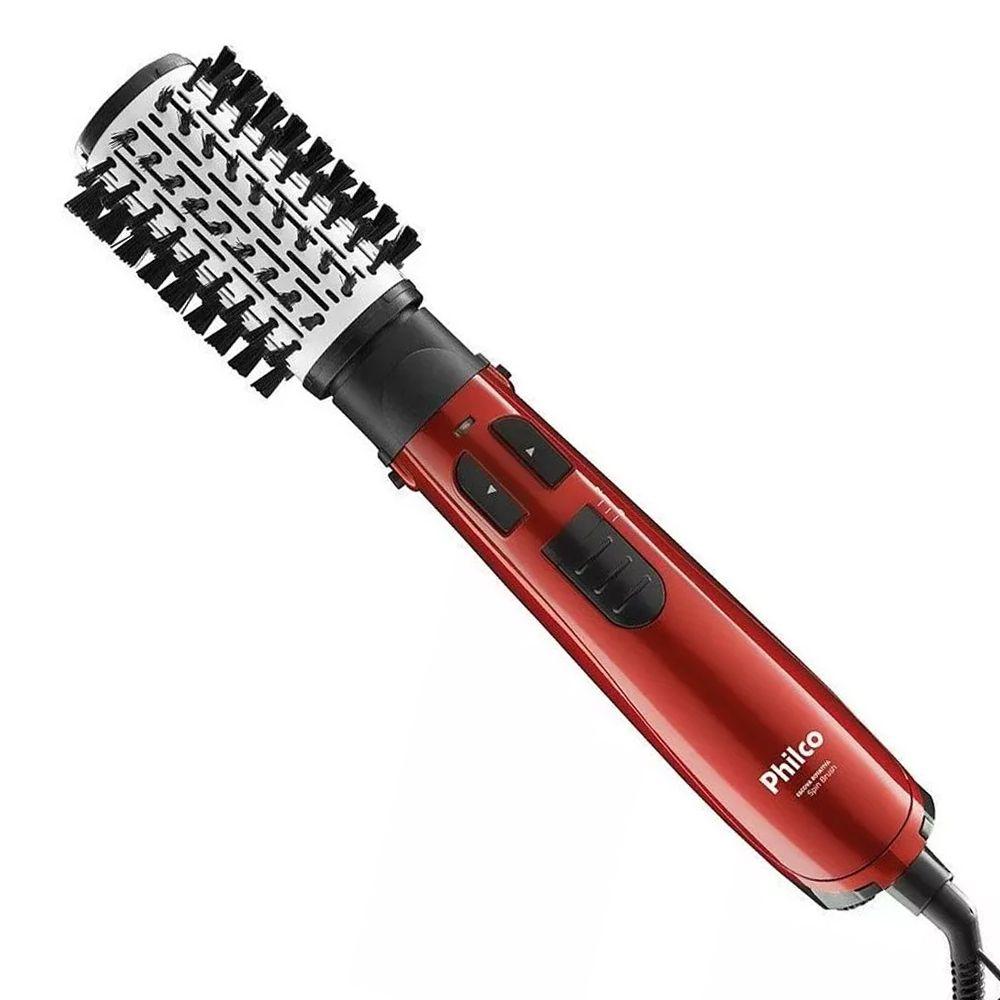 Escova Rotativa Philco Spin Brush com Cabo Giratório 1.100W - Vermelha