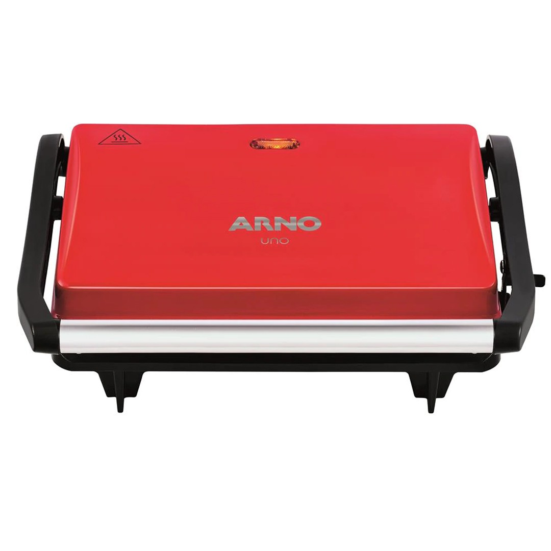 Grill Elétrico Arno Uno Compacto com Antiaderente e Luz Piloto 760W