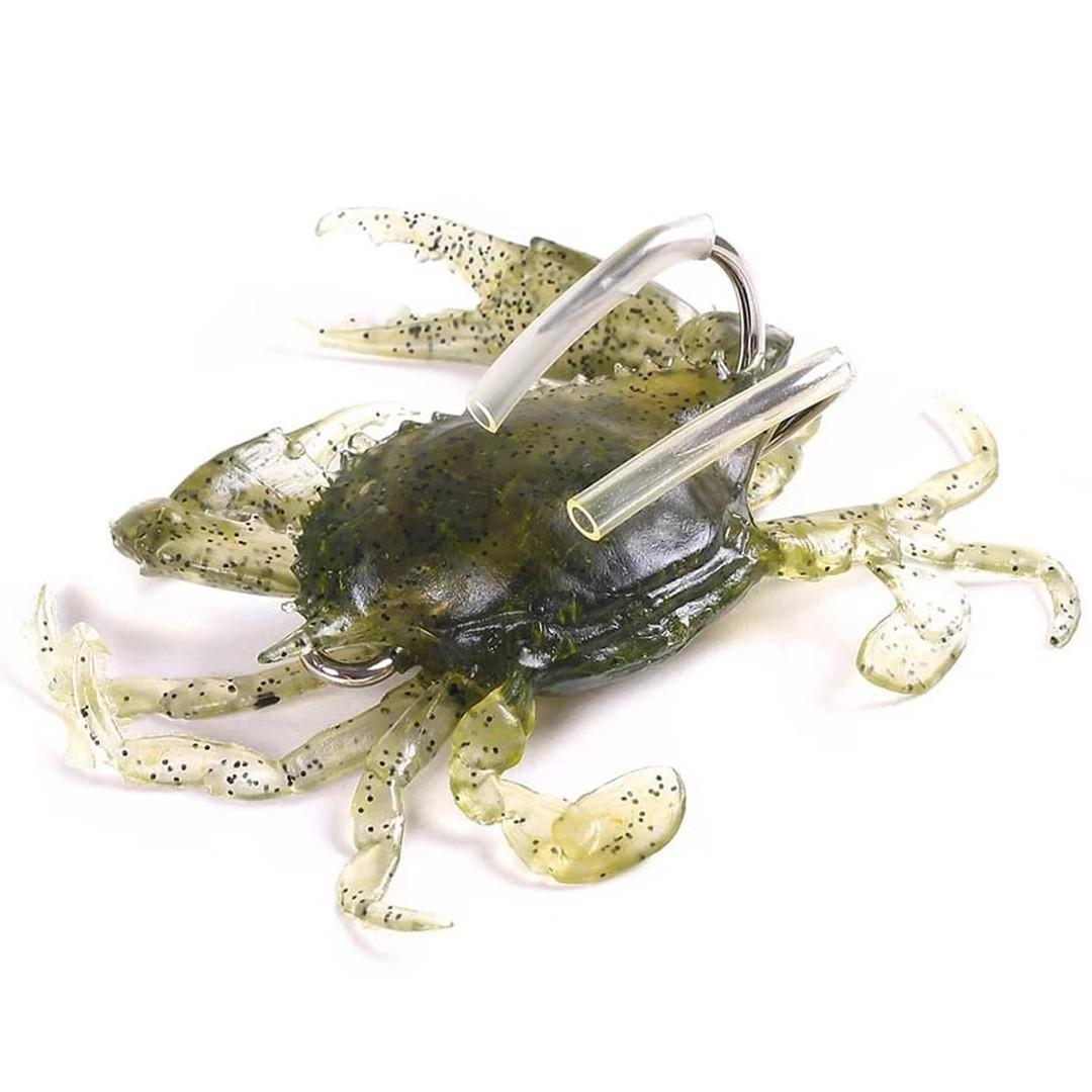 Isca Artificial Soft Caranguejo com Anzol Anti-Enrosco 3un
