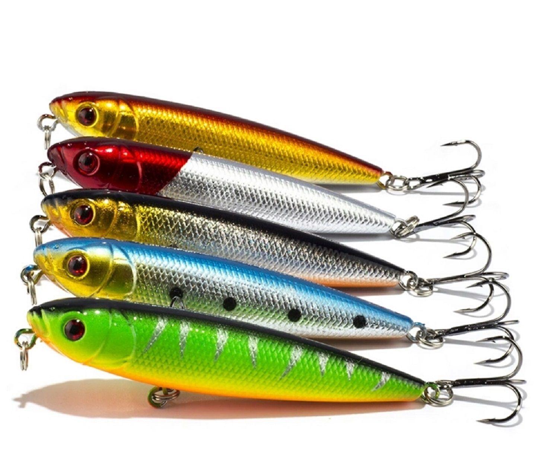 Iscas Artificiais Pesca Superficie Estilo Zara 8cm 9gr com 5un