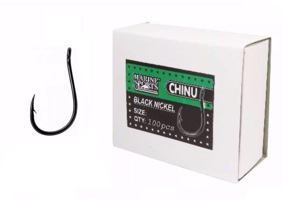 Kit 3 Cx Anzol Chinu Nº 7 Black Nickel Marine Sports - 300un