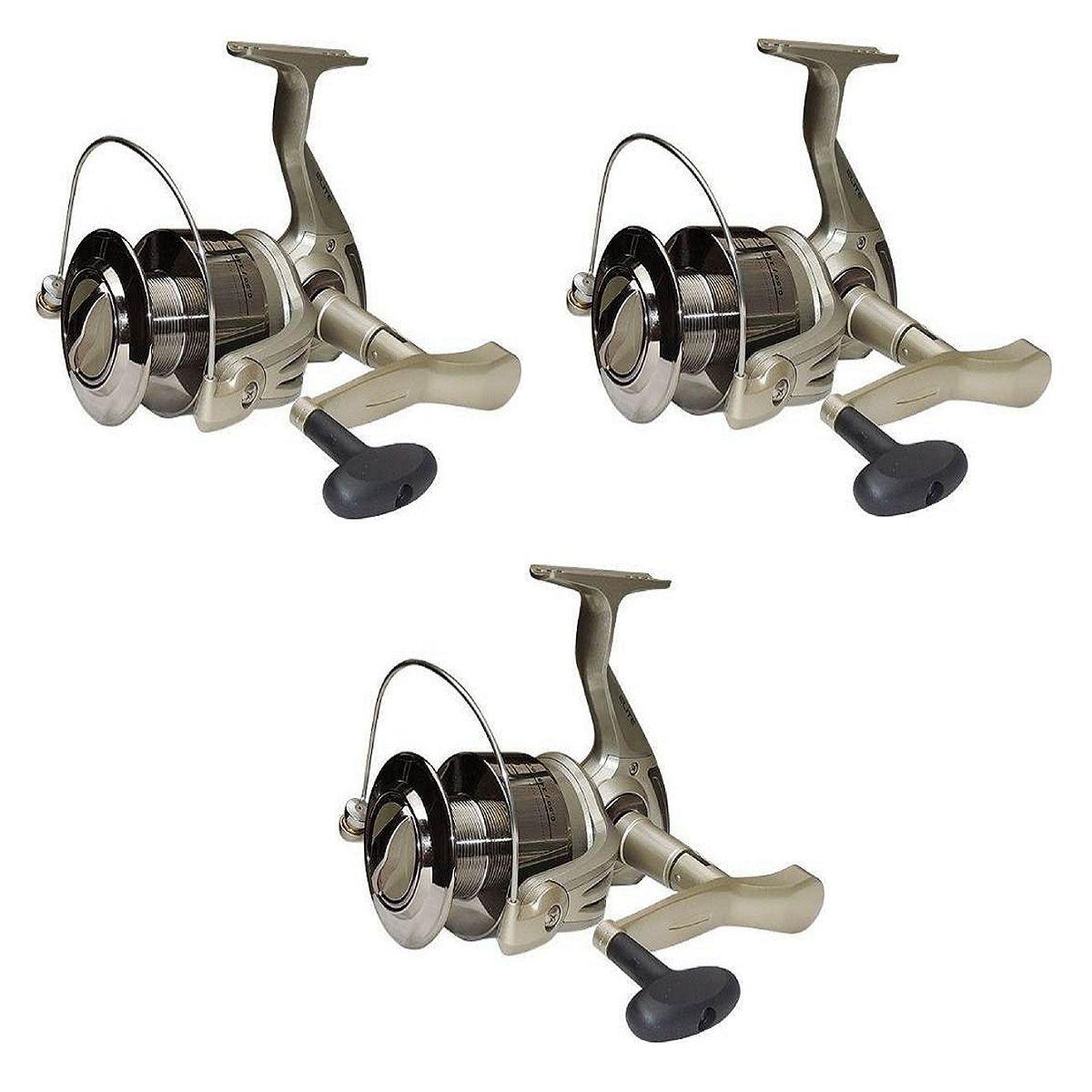 Kit 3 Molinetes Pesca Marine Sports Elite 6000 3 Rolamentos