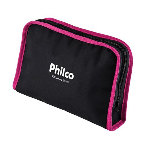 Kit de Beleza para Viagens Philco Travel Shine Secador + Prancha e Necessaire