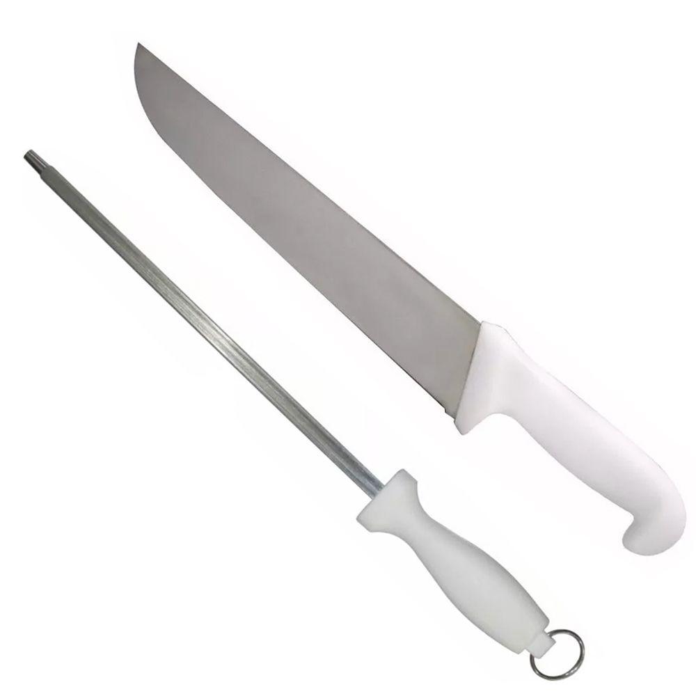 Kit Faca Açougue Churrasco Cozinha Aço Inox 8