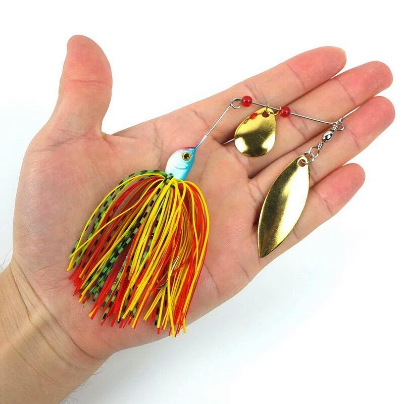 Kit Iscas Artificiais Spinner Bait Anzol Anti Enrosco 4un
