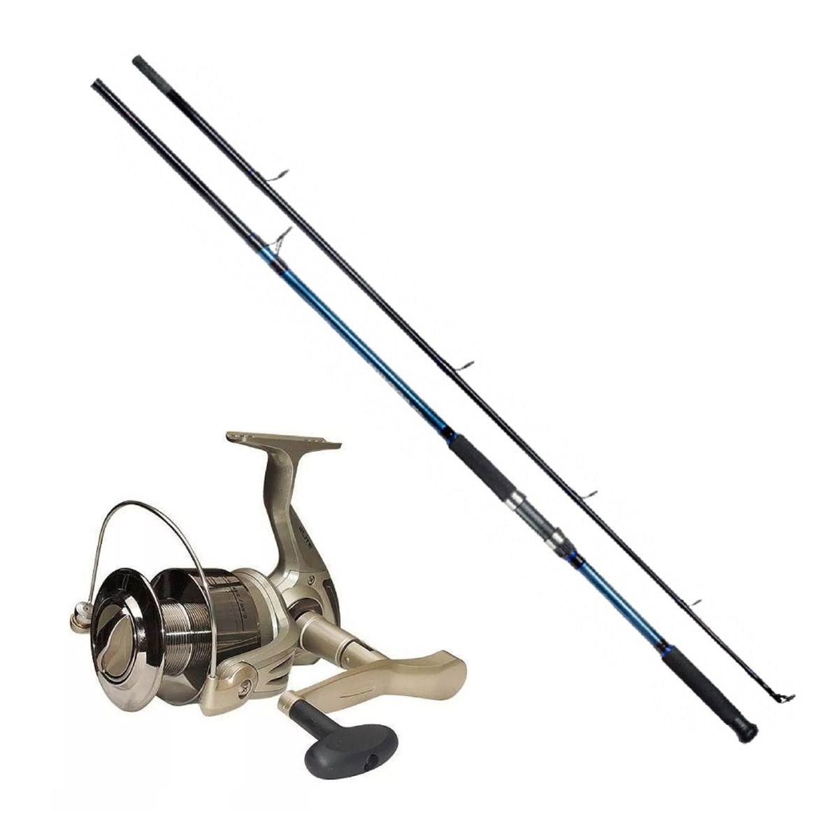 Kit Pesca Molinete Elite 2000 + Vara Solara 1,80m 20 Lbs Azul Marine Sports