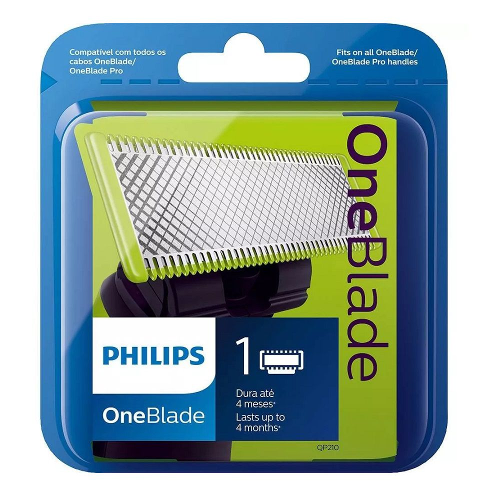 Lamina Refil Barbeador Elétrico Philips One Blade QP210/50