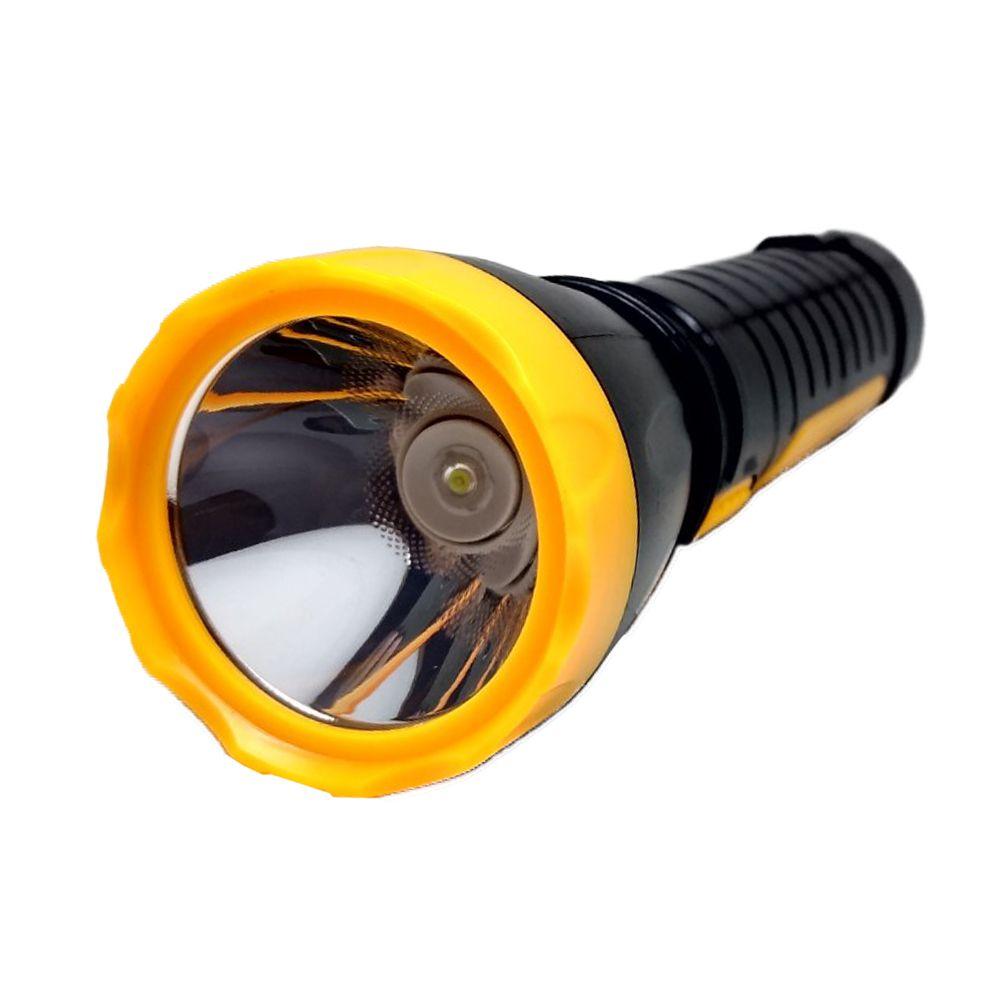 Lanterna de Led Potente Recarregável 1 Led 22cm 3W SQ-3535