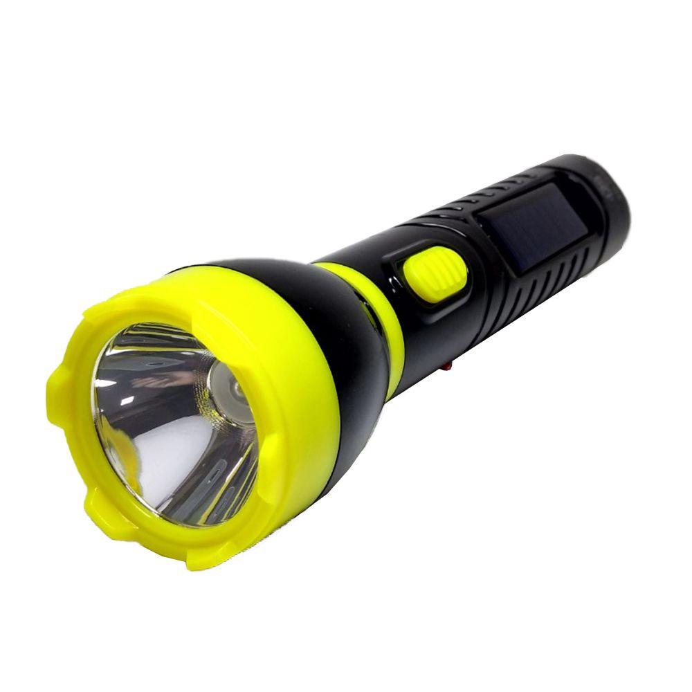 Lanterna Led bateria recarregável elétrica solar 3W SQ-3805
