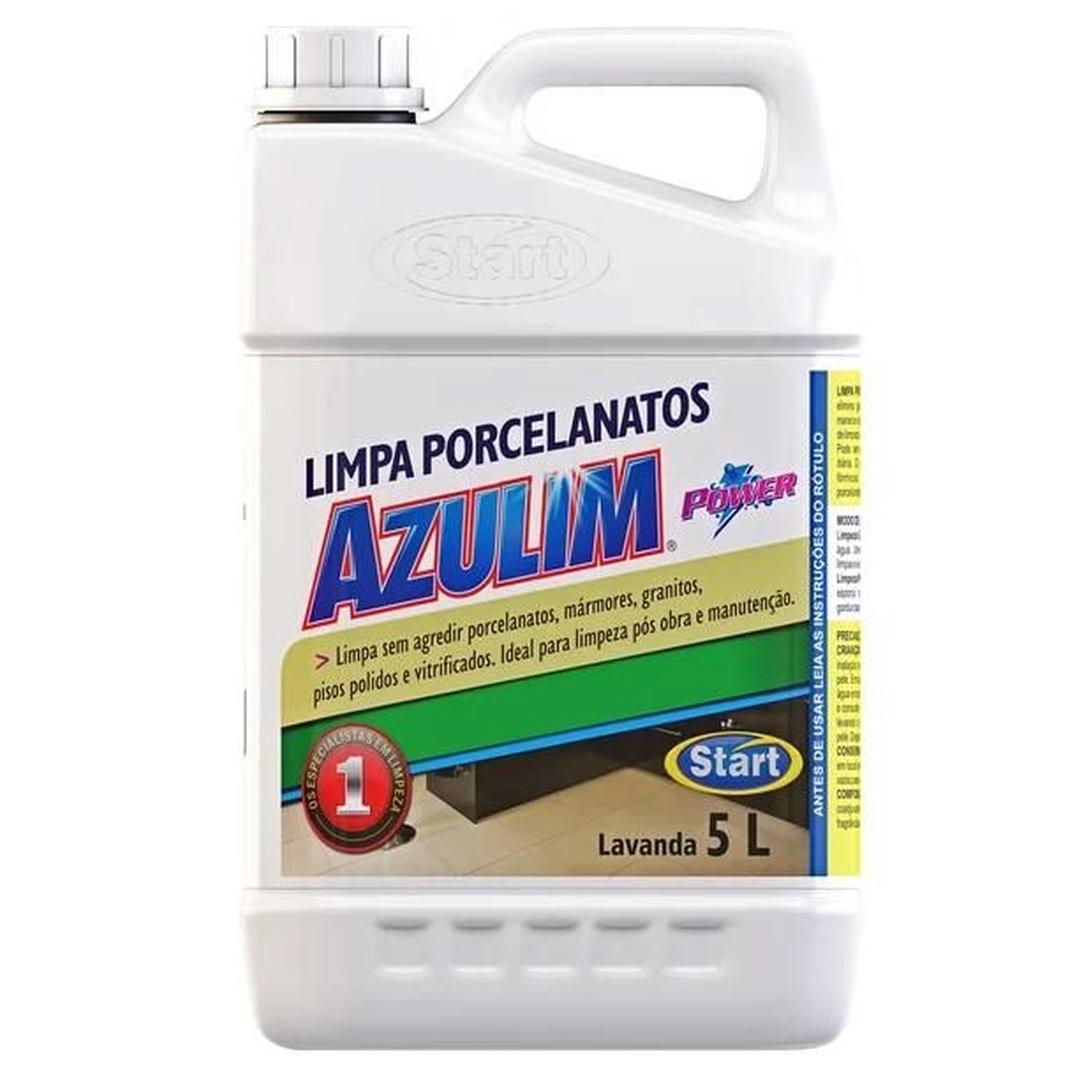 Limpa Porcelanato Concentrado Azulim Power Lavanda Perfumado Start 5 Litros