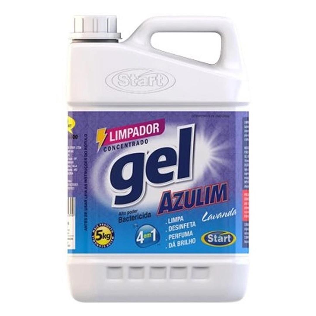 Limpador Desinfetante Gel Concentrado Azulim Lavanda Perfumado Start 5 Litros