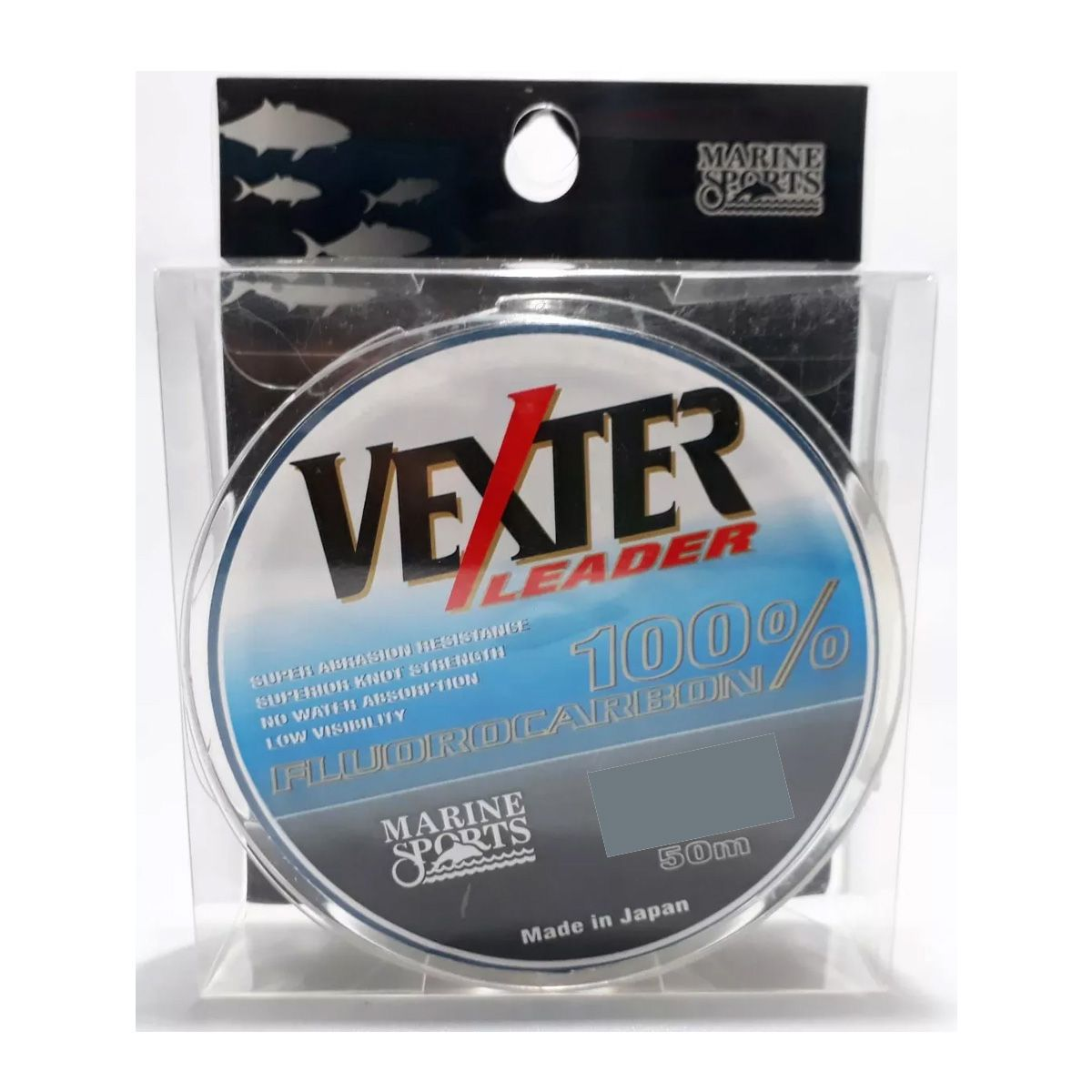 Linha Pesca Fluorcarbono Leader Vexter Marine Sports 0.37mm 17 Lbs