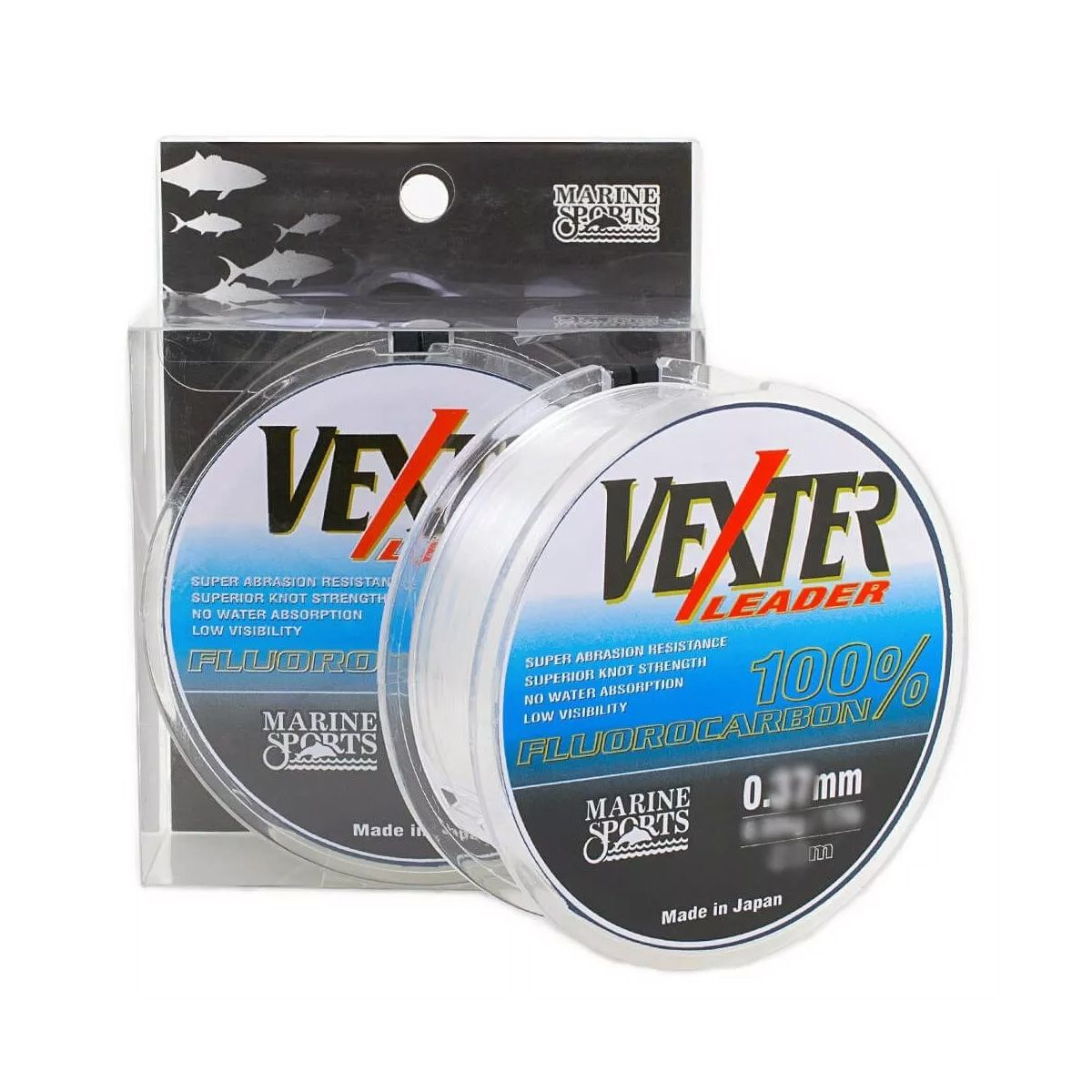 Linha Pesca Fluorcarbono Leader Vexter Marine Sports 0.52mm 33 Lbs