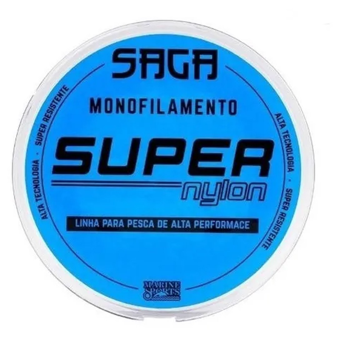 Linha Pesca Monofilamento Marine Sports Saga Nylon Smoke 0.47mm 33lb 300m
