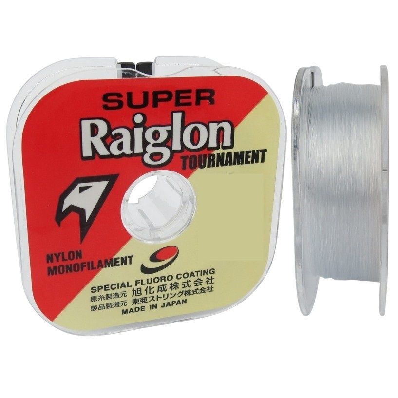 Linha Pesca Monofilamento Super Raiglon 0.43mm 41lbs 18.7k 100m Branca