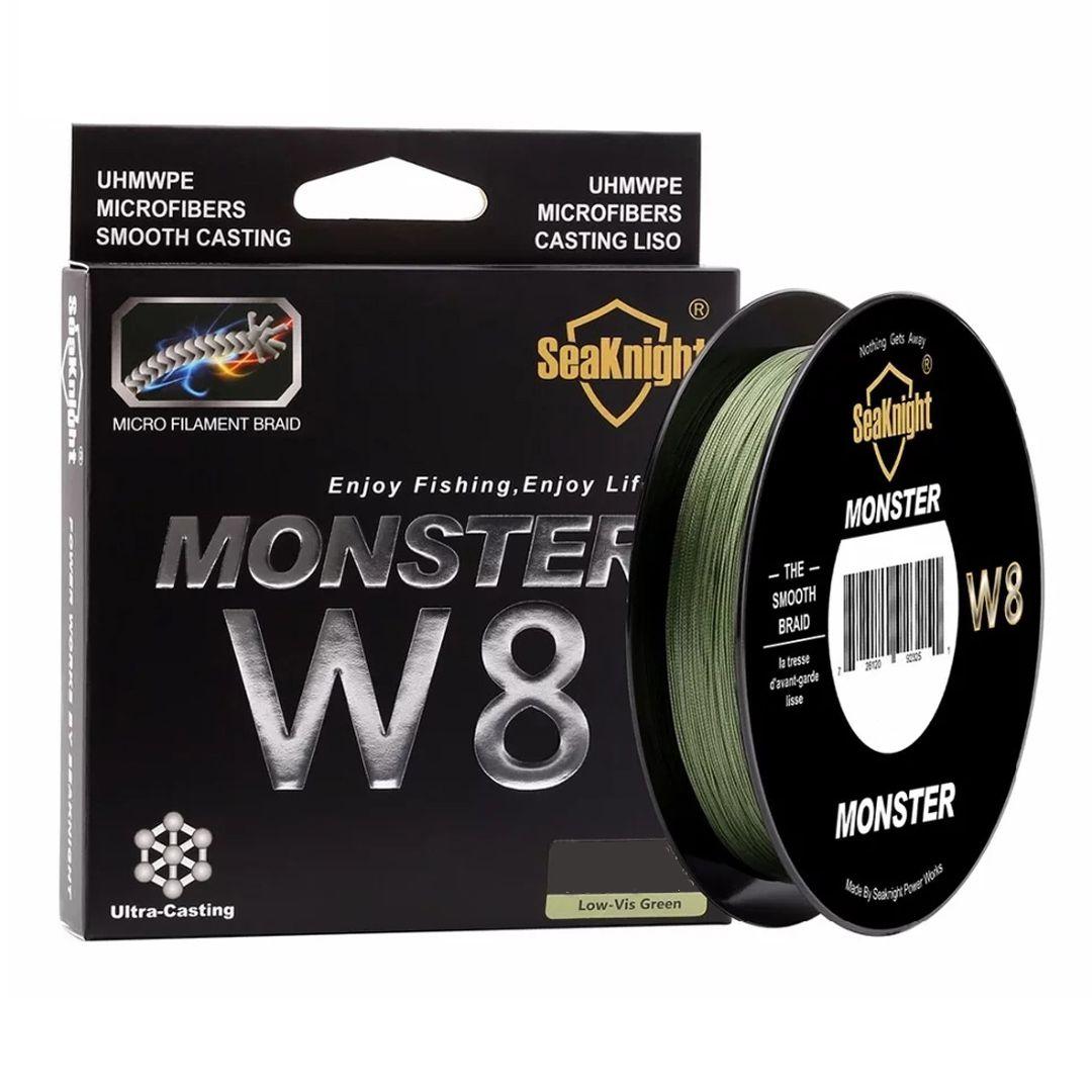 Linha Pesca Multifilamento Monster W8 8 Fios 300 Metros