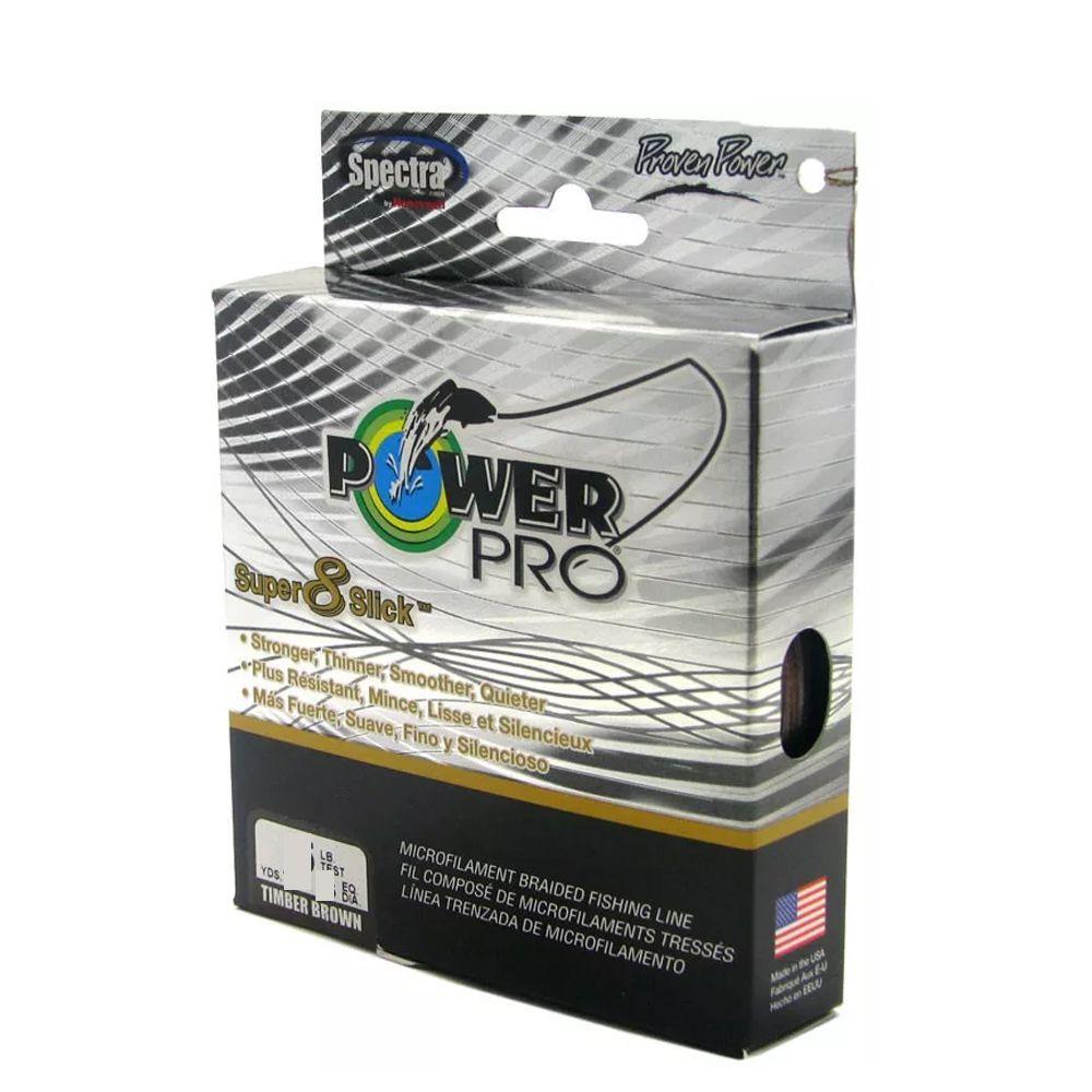 Linha Pesca Multifilamento Power Pro Super 8 Slick 150yds 0.19mm 15 Lbs Verde