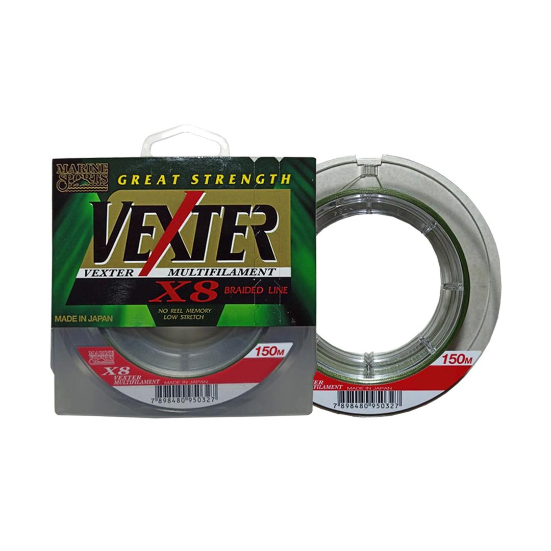 Linha Pesca Multifilamento Vexter X8 0.29mm 40 Lbs 150 Metros 8 Fios