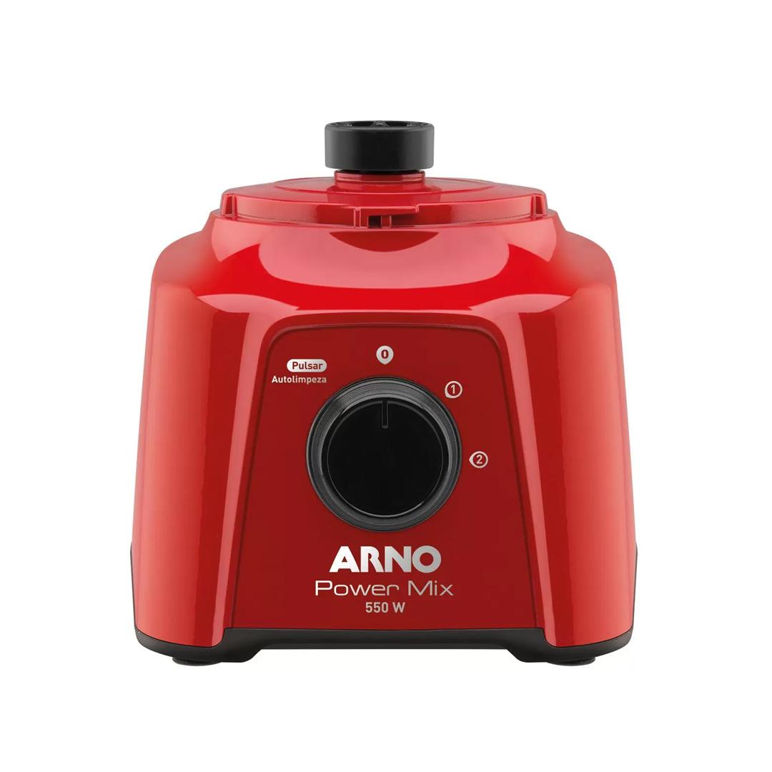 Liquidificador Arno Power Mix LQ11 2 Velocidades com Função Pulsar 550W Vermelho