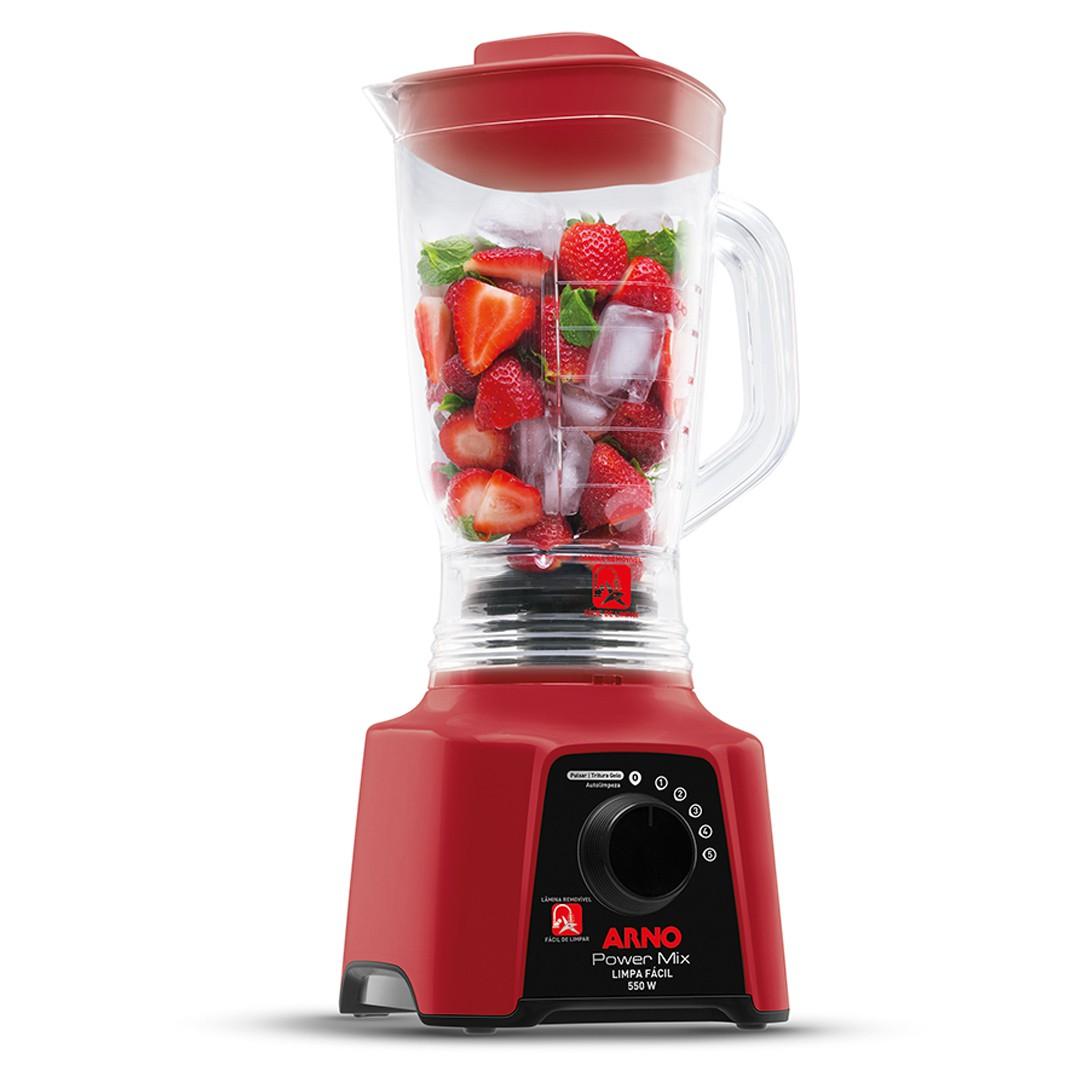Liquidificador Arno Power Mix LQ30 com 5 Velocidades e Função Pulsar 550W Vermelho