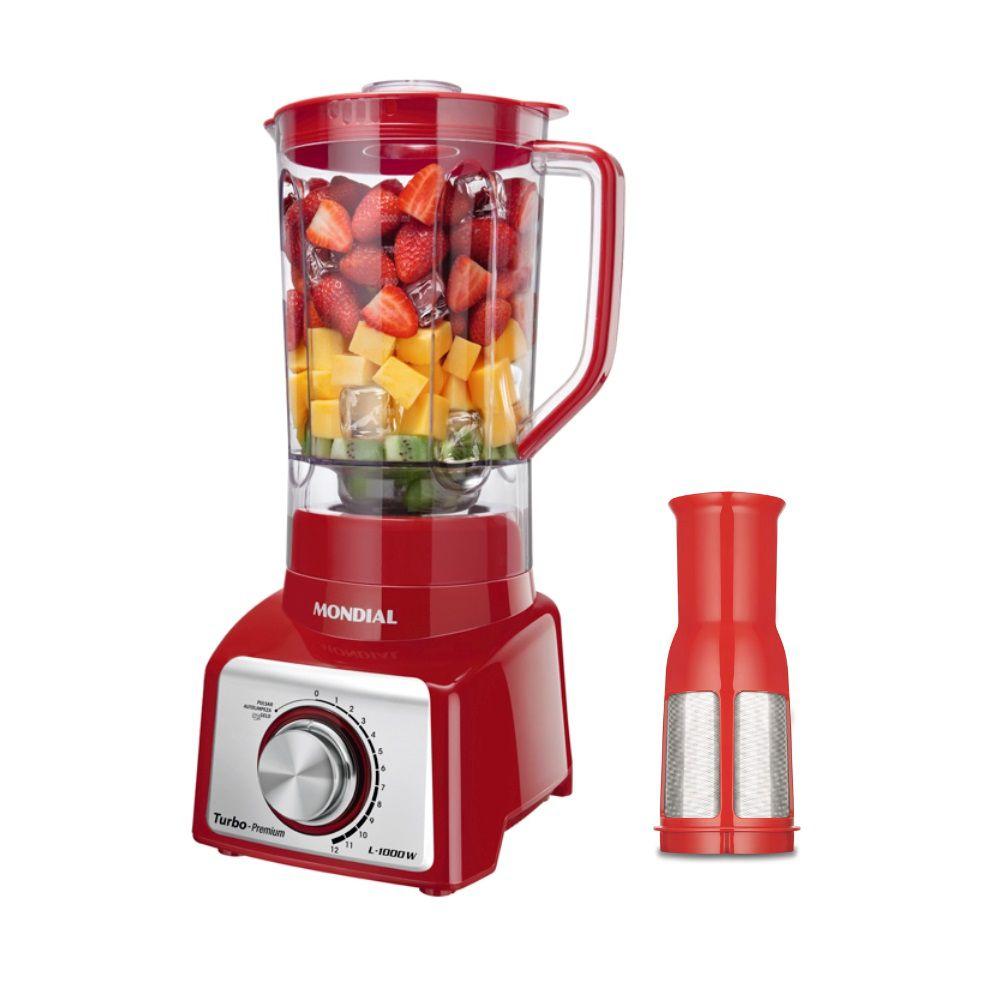 Liquidificador Mondial Premium L1000 Vermelho 1000W 12 Velocidade 110V