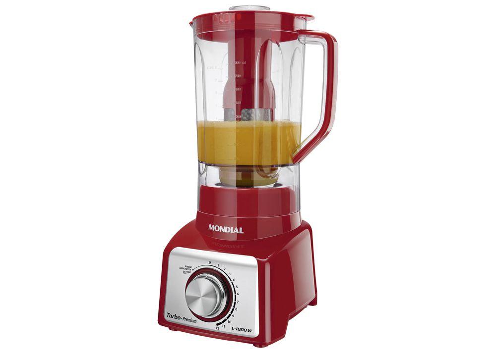 Liquidificador Mondial Premium L1000 Vermelho 1000W 12 Velocidade 220V