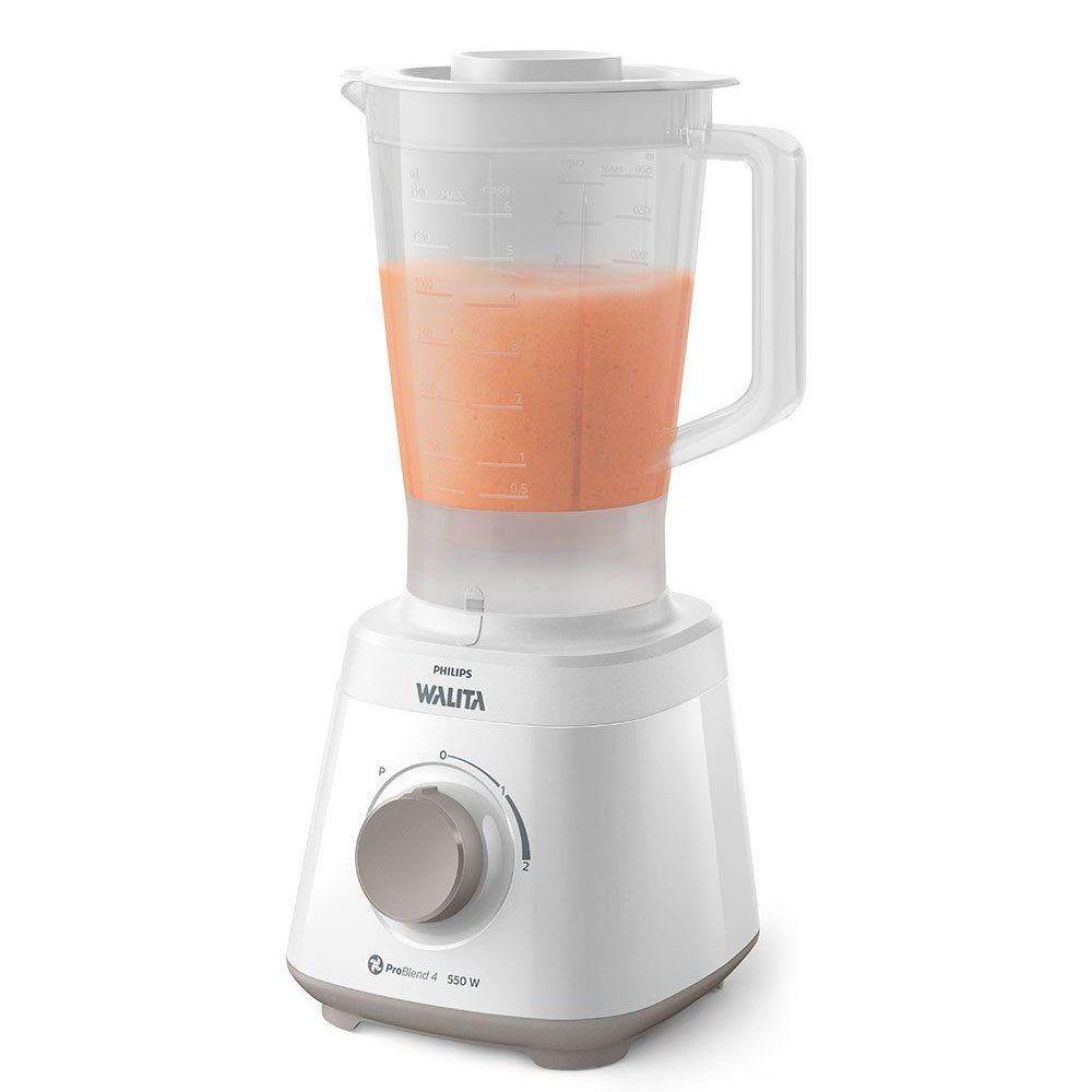 Liquidificador Philips Walita Daily RI2110 Pro Blend 550W 2L Branco