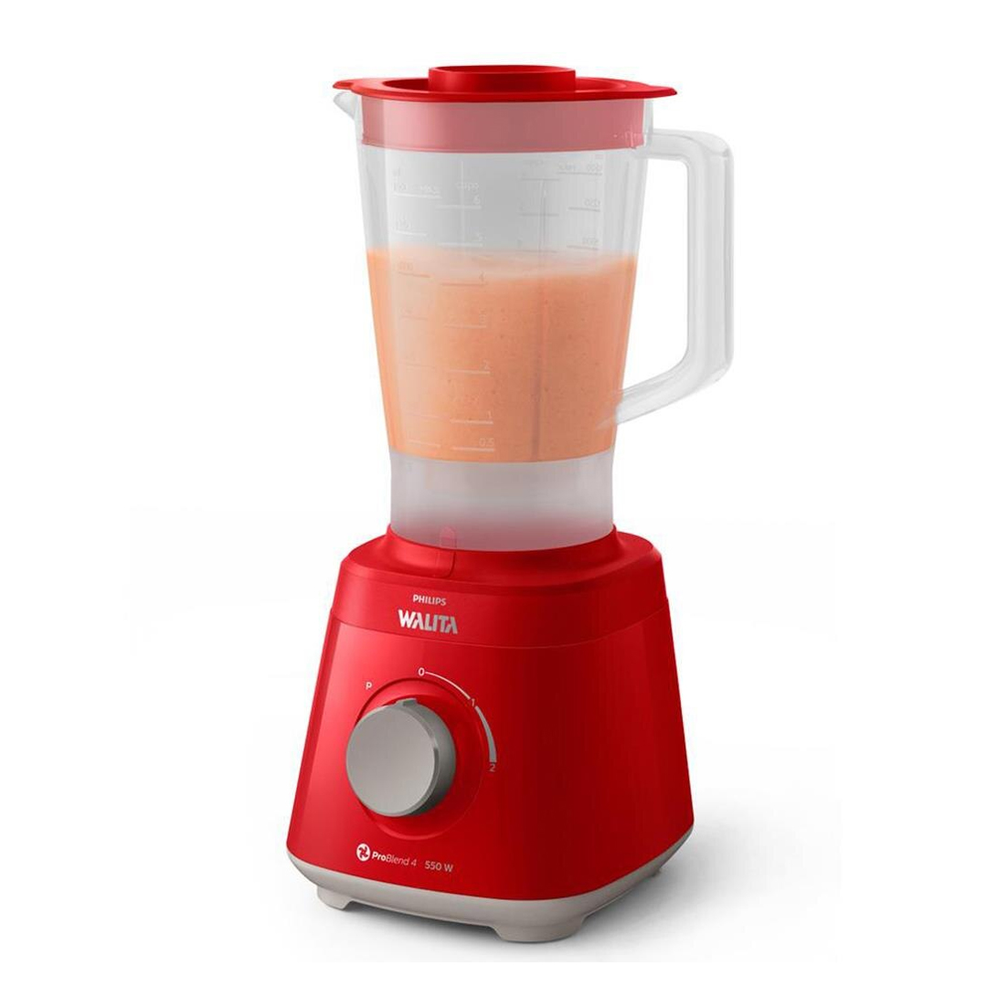 Liquidificador Philips Walita Daily RI2110 Pro Blend 550W 2L Vermelho