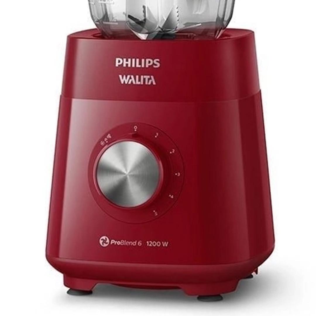 Liquidificador Philips Walita RI2240 Série 5000 ProBlend 6 Lâmina 1200W Vermelho