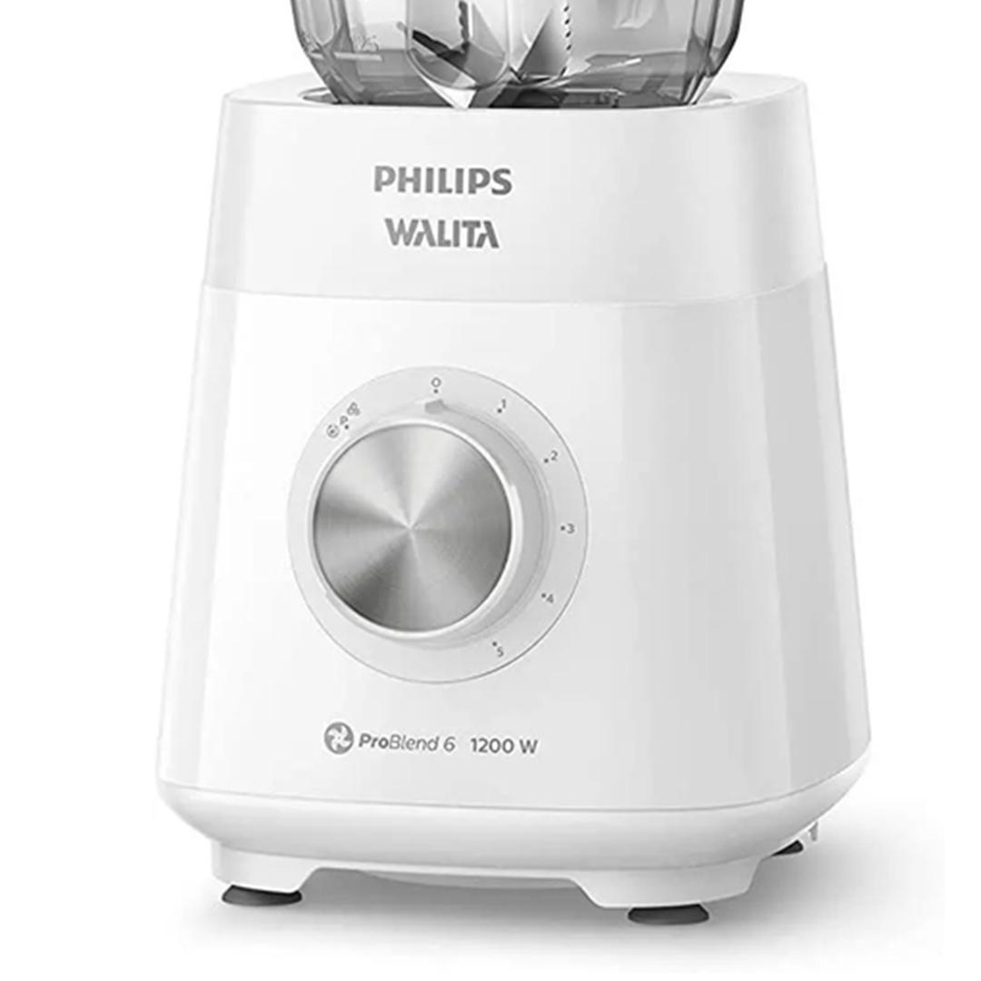 Liquidificador Philips Walita RI2240 Série 5000 ProBlend 6 Láminas 1200W Branco