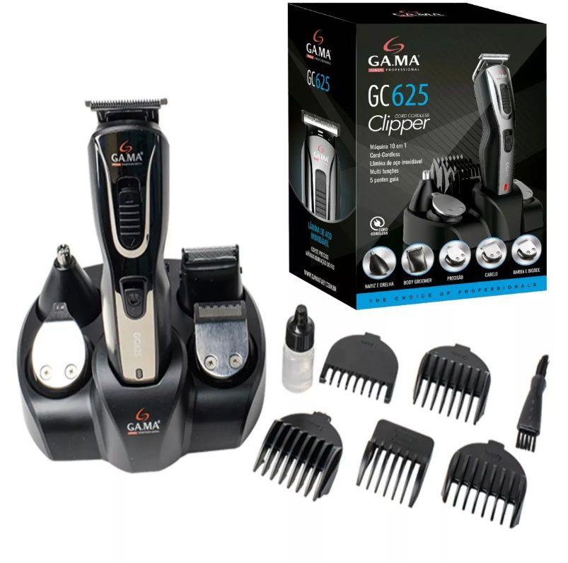 Máquina cortador de cabelo barba e pelos 10 em 1 Gama GC625
