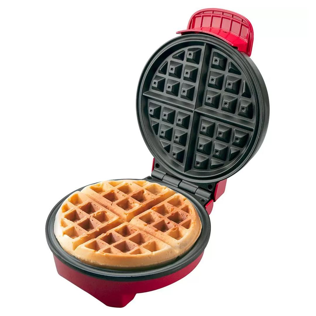 Máquina de Waffles Britânia Golden Antiaderente 4 Waffles Doces e Salgados 850W