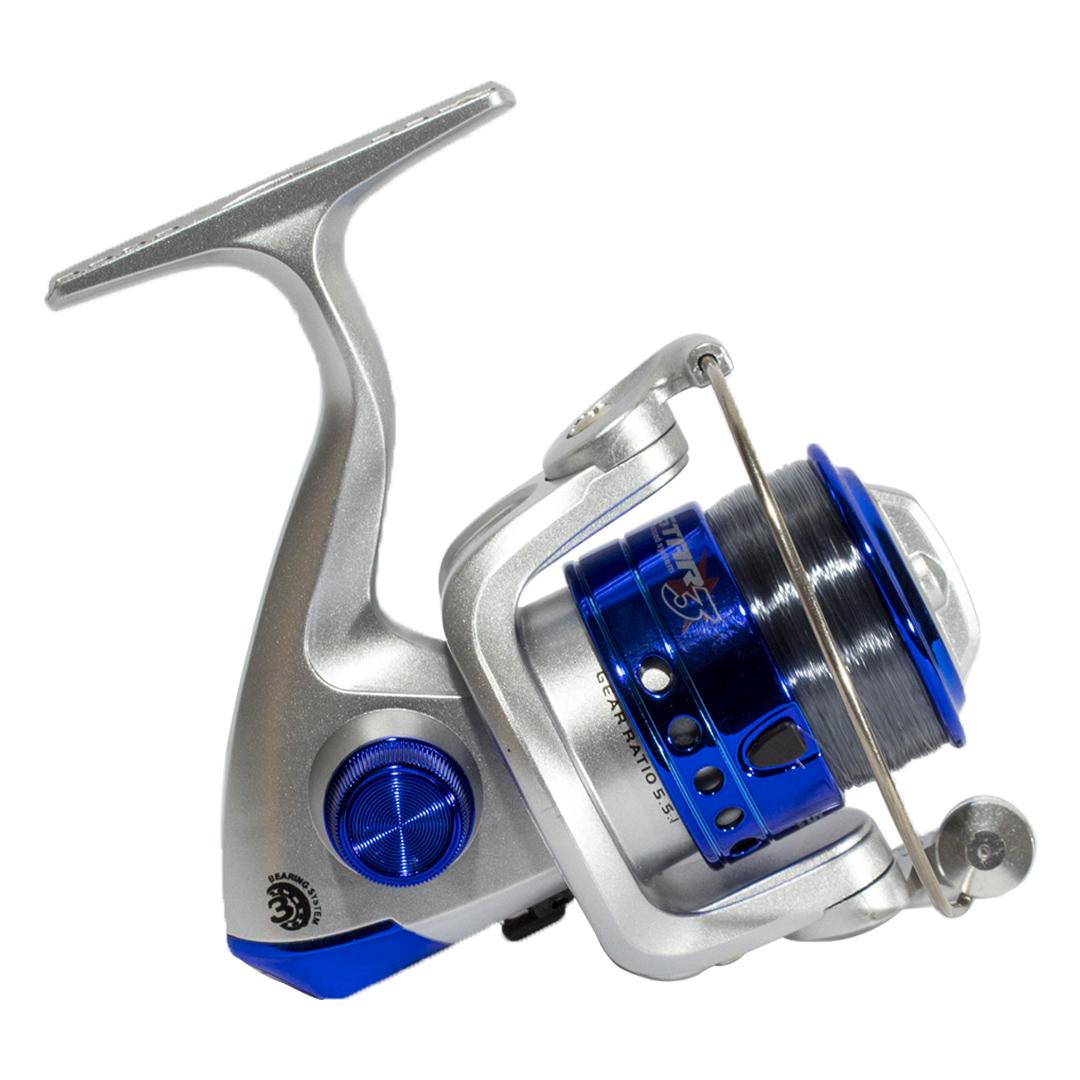 Molinete Pesca Star 3 Marine Sports 3 Rolamentos Com Linha