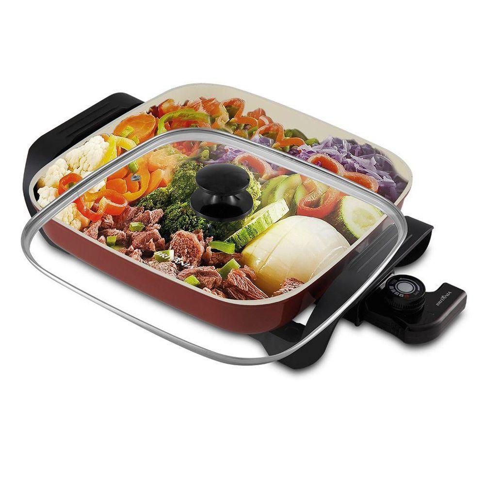 Panela Elétrica Multifuncional Super Chef Ceramic BPE05V Britânia Vermelha