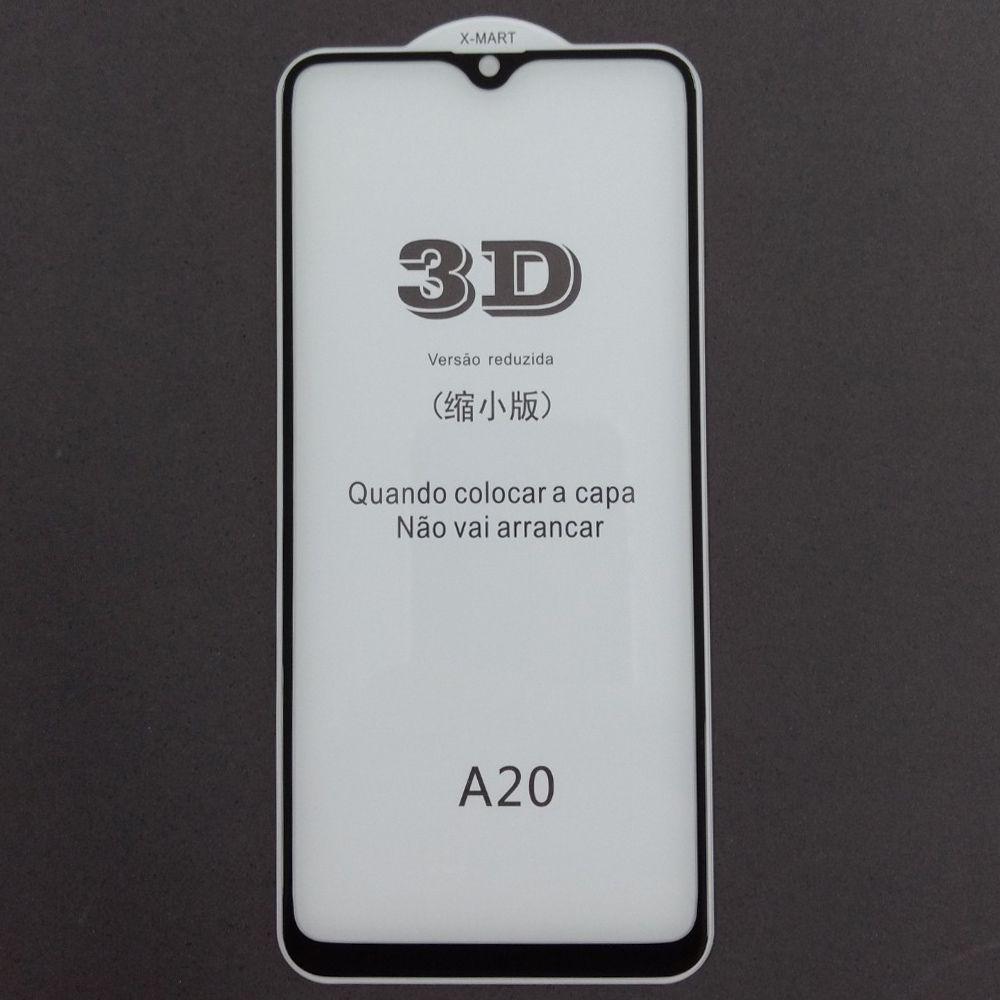 Película de Vidro Temperado 3D Samsung A20 A205G Tela Toda